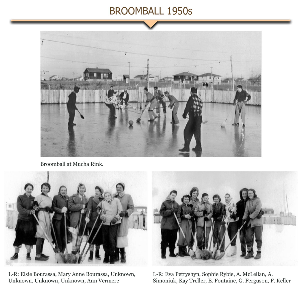 1950s Broomball