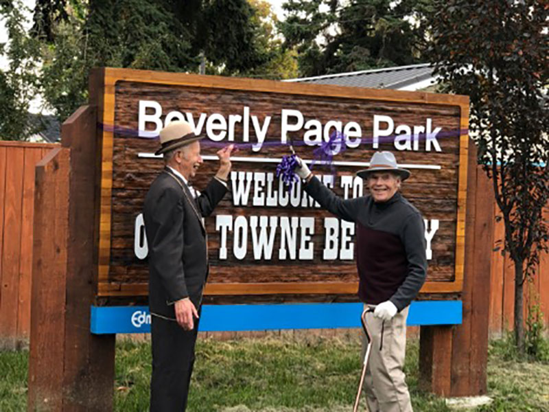 Beverly Page Park Ribbon Cutting